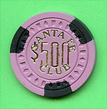 OLD VINTAGE 1956 CALIF CARD ROOM CHIP - $500.00 - SANTA FE CLUB - ANTIOCH CA