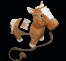 LT TAN BROWN REMOTE CONTROL WALKING HORSE WITH SOUND battery operated toy pony