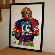 Joe Montana, San Francisco 49ers, Quarterback, Football, 18x24 POSTER w/COA 2
