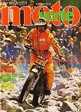 MOTO VERTE  27 YAMAHA TY 350 RAYER HERCULES 125 175 GS Mile San JOSE ISDT 1976