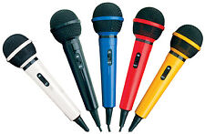 Mr Entertainer Microphone Kit with 5 Pack Coloured Karaoke Dynamic Microphones