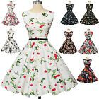 1940'S 1950'S FREE P&P VINTAGE RETRO FORMAL PARTY FLARED TEA SUMMER SWING DRESS