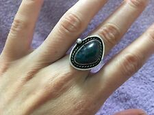 RARE VINTAGE APACHE Sterling Silver BLUE BIRD TURQUOISE RING Native American