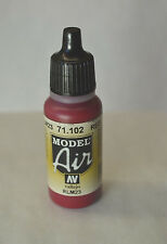 Vallejo Model AIR - RED 71.102 Acrylic Model Paint 17ml Airbrush Ready 71-102