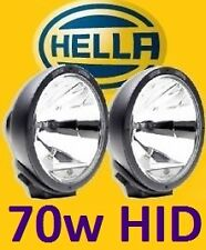 1pr Hella Rallye 4000 spot driving lights with waterproof 70W HID kit pre-fitted