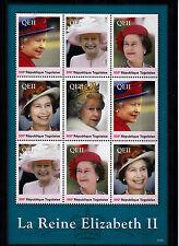 Togo 2013 MNH Reign Elizabeth II 9v Sheetlet I Queen Royalty La Reine Togolaise