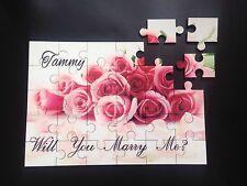 Will You Marry Me. Fun Novelty Personalised Jigsaw Puzzle Gift