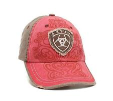 Ariat Western Womens Hat Baseball Cap Scrolling Red 4604