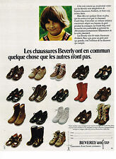 PUBLICITE ADVERTISING 074  1972  BEVERLY  guide step  chaussures bottes enfants