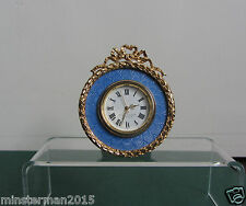 VINTAGE KITNEY MINIATURE DESK CLOCK BUCKINGHAM PALACE DIAL GOLD COLOURED