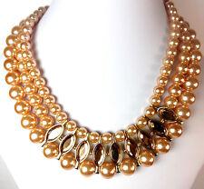 Donna elegante robusta Dichiarazione Collana di perle NUOVO UNICO SPLENDIDO (st94)