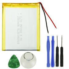 "New 3000mAh Li-ion Polymer Rechargeable Battery for 7"" Tablet + Suction Tools"