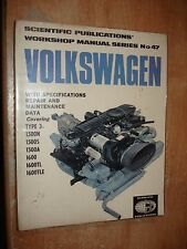 VW BUG KARMANN GHIA SQUAREBACK BUS BEETLE SERVICE MANUAL SHOP BOOK