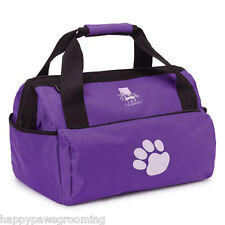 PURPLE PET Dog GROOMER GROOMING Mobile Travel Storage Tool Case Tote DUFFLE BAG