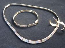 Vintage 14k Gold 47.62 grams Tri-color Necklace, Bracelet and Earrings Set