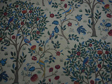 William Morris Curtain Fabric 'Kelmscott Tree' 3.6 METRES (360cm) Forest/Gold