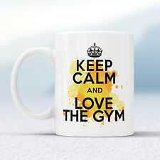 Keep Calm And Love THE GYM Splash Mug Gift Exercise Lover Squat Cup Present