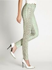 Guess High-Rise Skinny Jeans With Snake Foil Print Size 24