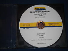 NEW HOLLAND GUARDIAN SP.365F SPRAYER OPERATION & MAINTENANCE MANUAL CD