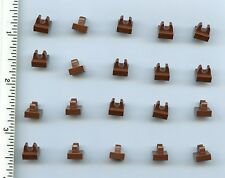 LEGO x 20 Reddish Brown Tile, Modified 1 x 1 with Clip NEW