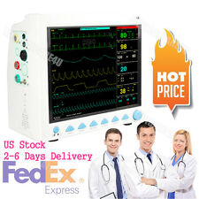 FDA Portable ICU Vital Signs Patient Monitor 3Y Warranty 6 Parameters+Accessory