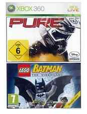 Xbox 360 lego batman & pure racing double pack * new & sealed * en stock au royaume-uni