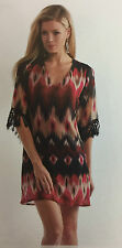 Cowgirl Dress Country Western Fringe Tunic Size S Women Rancho Estancia Black