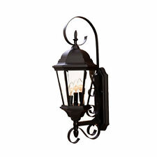 """Acclaim Lighting 5413 Matte Black New Orleans 3 Light 25"""" Height Outdoor Wall"""