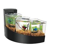 Aqueon Kit Betta Falls Fish Tank With Divider And Filter Desktop Aquarium