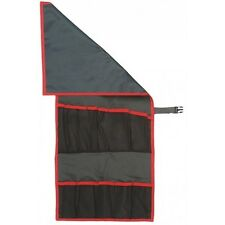 Facom Tool Roll With Locking Clip Grey Red PVC With 10 Pockets