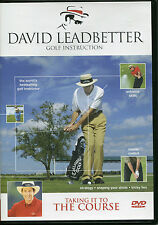 DAVID LEADBETTER GOLF INSTRUCTION DVD - TAKING IT TO THE COURSE, STRATEGY & MORE