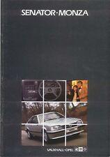 Opel Monza & Senator 1983 Original UK Market Sales Brochure No. V5017