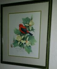 Roger Tory Peterson Scarlet Tanager Signed And Numbered Limited Edition Print