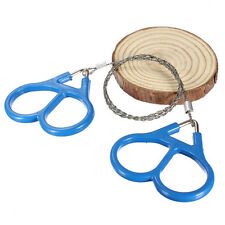 Outdoor Steel Wire Saw Scroll  Camping Hiking Hunting Emergency Survival Tool LS