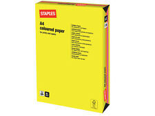 250 SHEETS / 1 REAM A4 NEON ASSORTED COLOURED PAPER 80 GSM + FREE 24H DEL