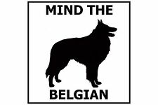 Mind the Belgian Vinyl Car Window Decal