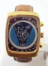 Swiss WALTHAM Jump Hour Chronograph Mens Automatic Watch Cal 1376* Very RARE