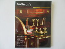 Important English & European Decorative Arts. Sotheby's New York 12 October 2013