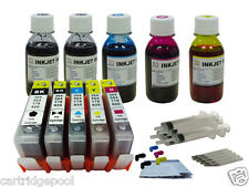5 Refillable ink cartridge with chip HP 564 XL Photosmart C6380 C510a+5x4oz 1P