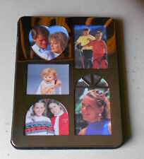 """Silverplated collage photo frame album 6"""" x 8"""" for 5 photos - 15 pockets inside"""