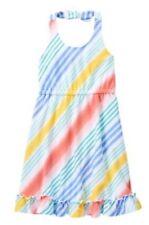 Gymboree 8 Tropical Breeze Striped Midi Halter Knit Dress NWT