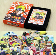 Anime NARUTO Uzumaki Naruto SASUKE UCHIHA 55 PCS Desk Game Playing Cards Pokers