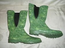 Ranger Green Synthetic Rain/Barn Boot  Sz 9