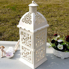 Country Style Lantern Candle Holder Romantic Wedding Wrought Iron Candlestick