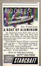 1956 Print Ad Starlite Aluminum Boats by Starcraft Fishing in Boat