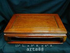 Chinese Traditional Wooden Stand / Pedestal for Display - Retangular Shaped