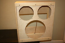"rawcabs narrow panel cabinet for 15"" and two 10"" speaker project"