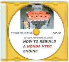 "How to Rebuild a Honda CRX Civic Accord VTEC B16 D16 F22 H22 Engine Video ""DVD"""