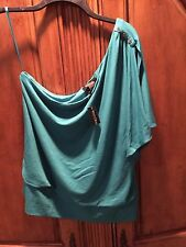 White House Black Market One Shoulder Lagoon Blouse Size XL New With Tags