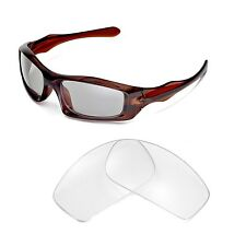 New Walleva Clear Replacement Lenses For Oakley Monster Pup Sunglasses